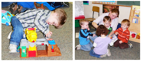 Toddlers at the Montessori School of Kingston in Ulster County, NY